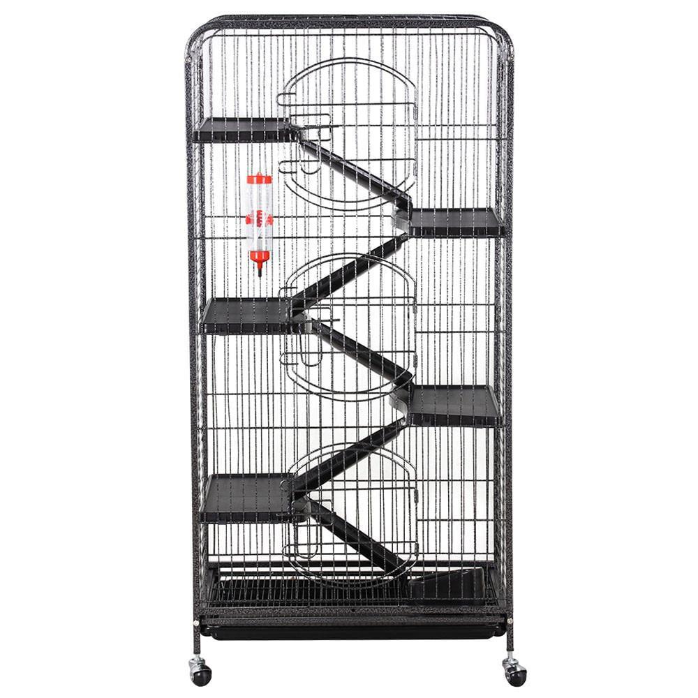 "Topeakmart 52"" Rabbit Rat Ferret and Small Animal Cage, Black"