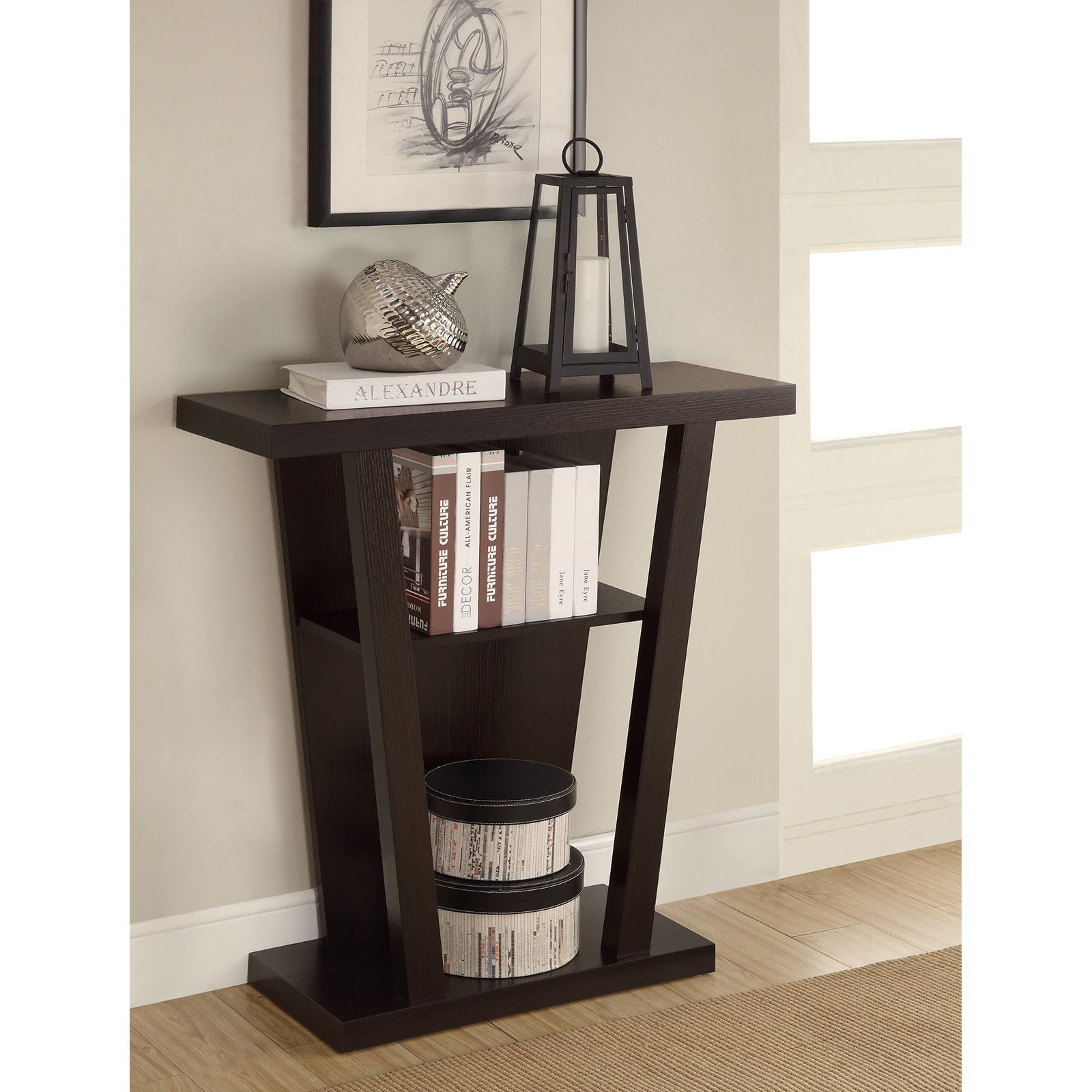 Coaster Company Console Table in Cappuccino