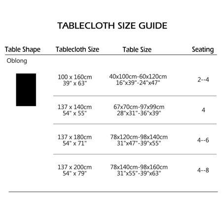 "Tablecloth PVC Rectangle Table Cover Oil Resistant Table Cloth 39"" x 63"", #5 - image 2 de 7"