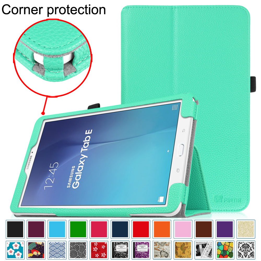 Samsung Galaxy Tab E 9.6 / Tab E Nook 9.6 Inch Tablet Folio Case - Fintie Slim Fit PU Leather Stand Cover, Mint Green