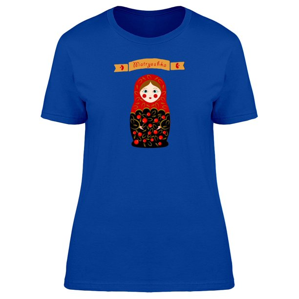 Matryoshka With Red Dress Tee Women's -Image by Shutterstock