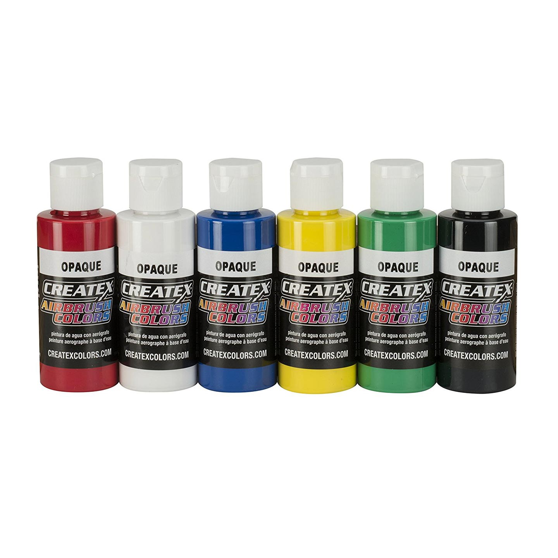 Createx Airbrush Opaque 6-Color Set