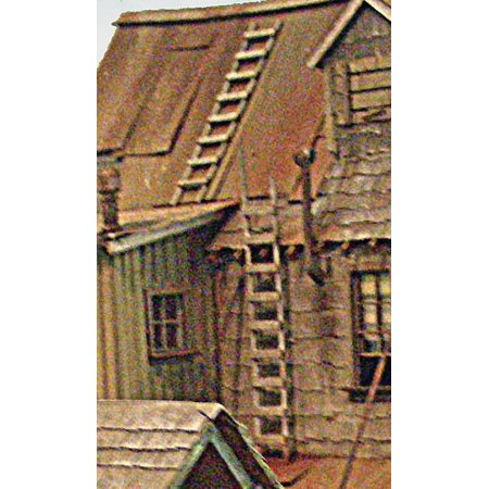Wood Toy Parts - Bar Mills O Scale Model Railroad Detail Parts - Wood Ladders