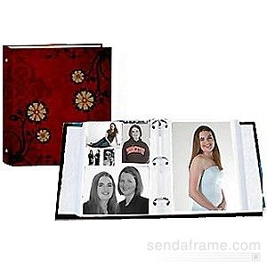 CAROLINA RED print 3-ring album br w EZ-stick magnetic pages