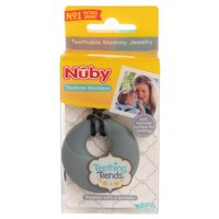 Nuby Teething Necklace For Mom Dad Teething Toys For Babies Stylish Teether For Babies BPA Free Silicone Jewelry