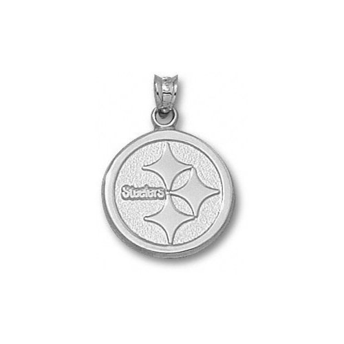 NFL - Pittsburgh Steelers 5/8'' Sterling Silver Circle Logo Pendant