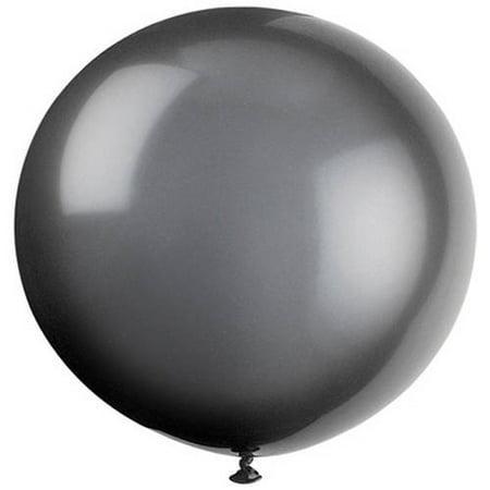 Latex Round Giant Balloons, 36 in, Phantom Black, - Black Latex Balloons