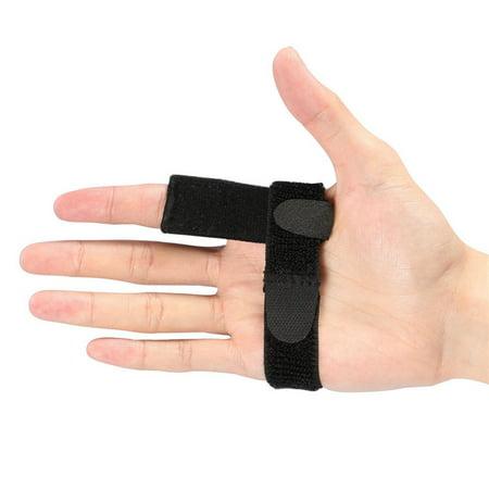 Adjustable Elastic Finger Brace for Finger Stiffness, Finger Splint Protector with Aluminum Bar