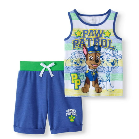 Paw Patrol Toddler Boy Tank & French Terry Shorts 2pc Outfit Set](Paw Patrol Clothes)