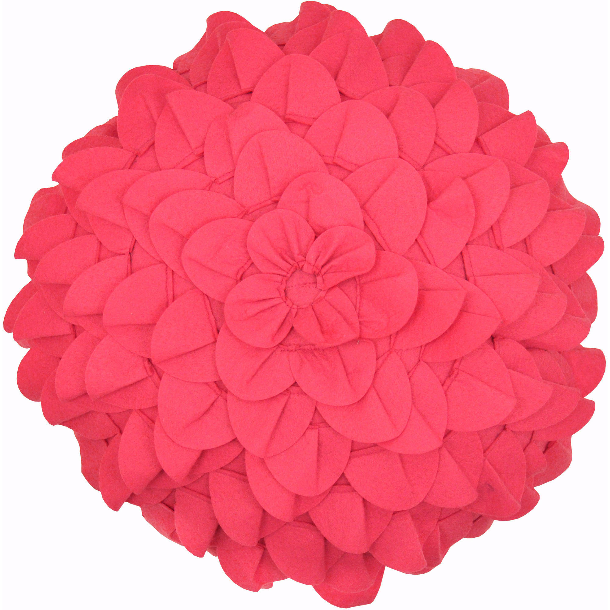 Formula Rose Die Cut Decorative Pillow, Pink