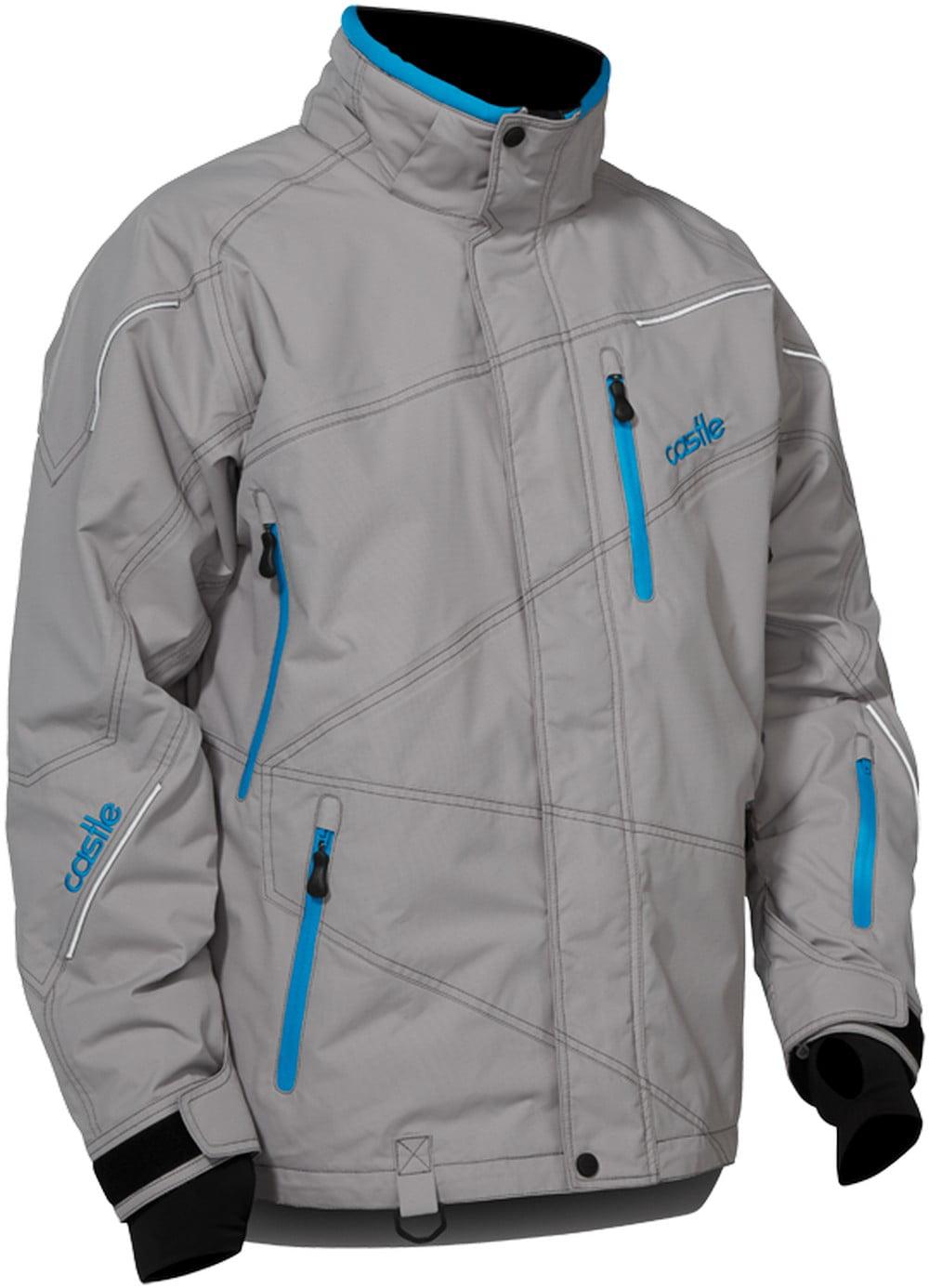 Castle X Racewear Surge Mens Snowmobile Parka Jacket Gray Reflex Blue by Parkas