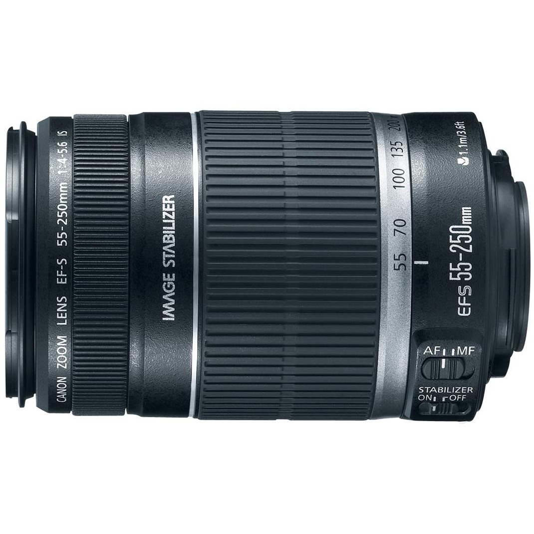 Canon EF-S 55-250mm f/4-5.6 IS II (Stabilized) Telephoto Lens with Canon USA Warranty