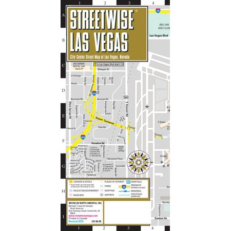 Michelin Streetwise Maps: Streetwise Las Vegas Map: Laminated City Center Map of Las Vegas, Nevada - Nevada City Halloween 2017