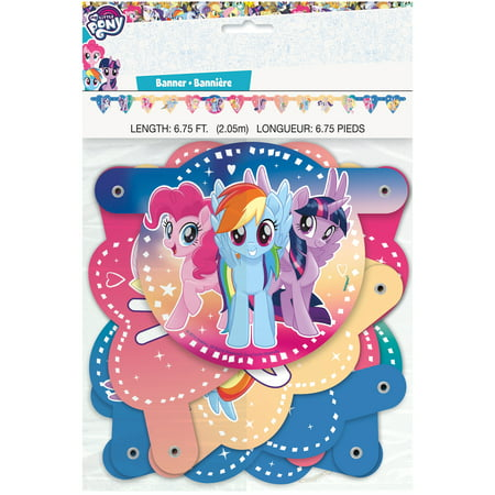 My Little Pony Plates (My Little Pony Birthday Banner, 6.75ft )
