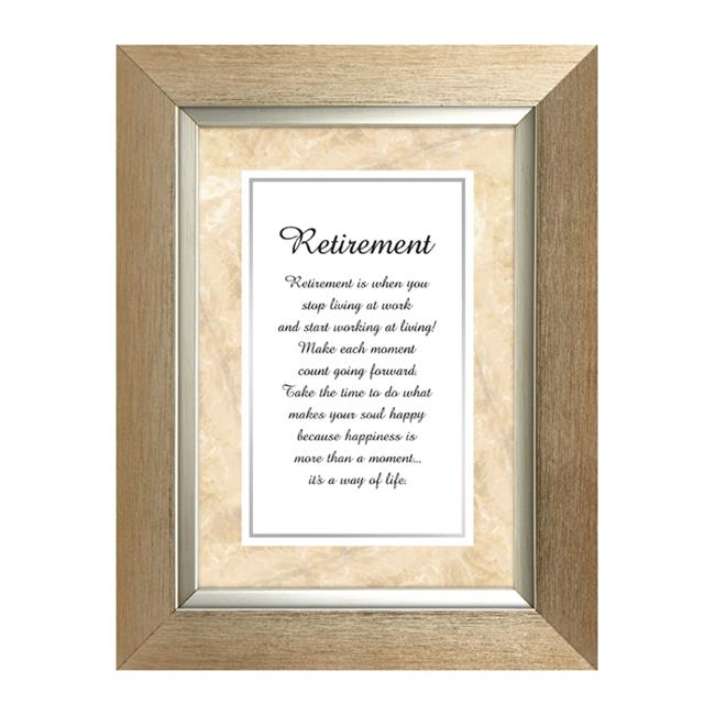 CB Gift WS066 7 x 9 Framed Table Top - Retirement