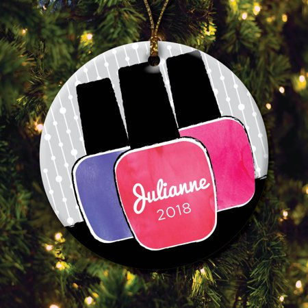 Personalized Christmas Ornament.Personalized Christmas Ornament Manicurist