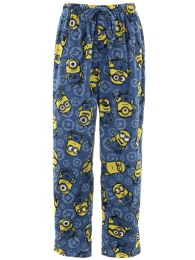 Despicable Me Men's Blue Sueded Fleece Pajama Pants