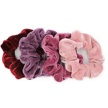 8 Pcs Hair Scrunchies Velvet Elastic Hair Bands Scrunchy Hair Ties - Walmart .com 65e2f8a6e71