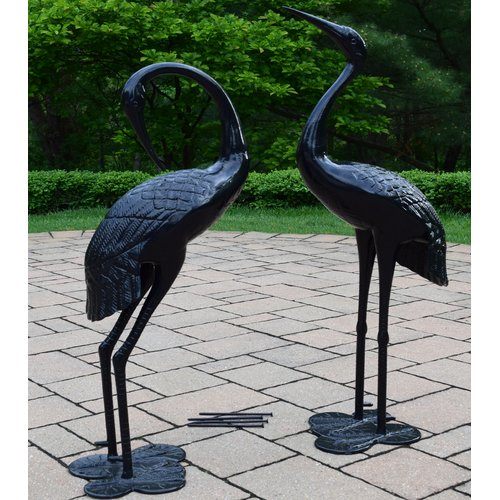 Oakland Living Beloved Standing Crane Couple Statue