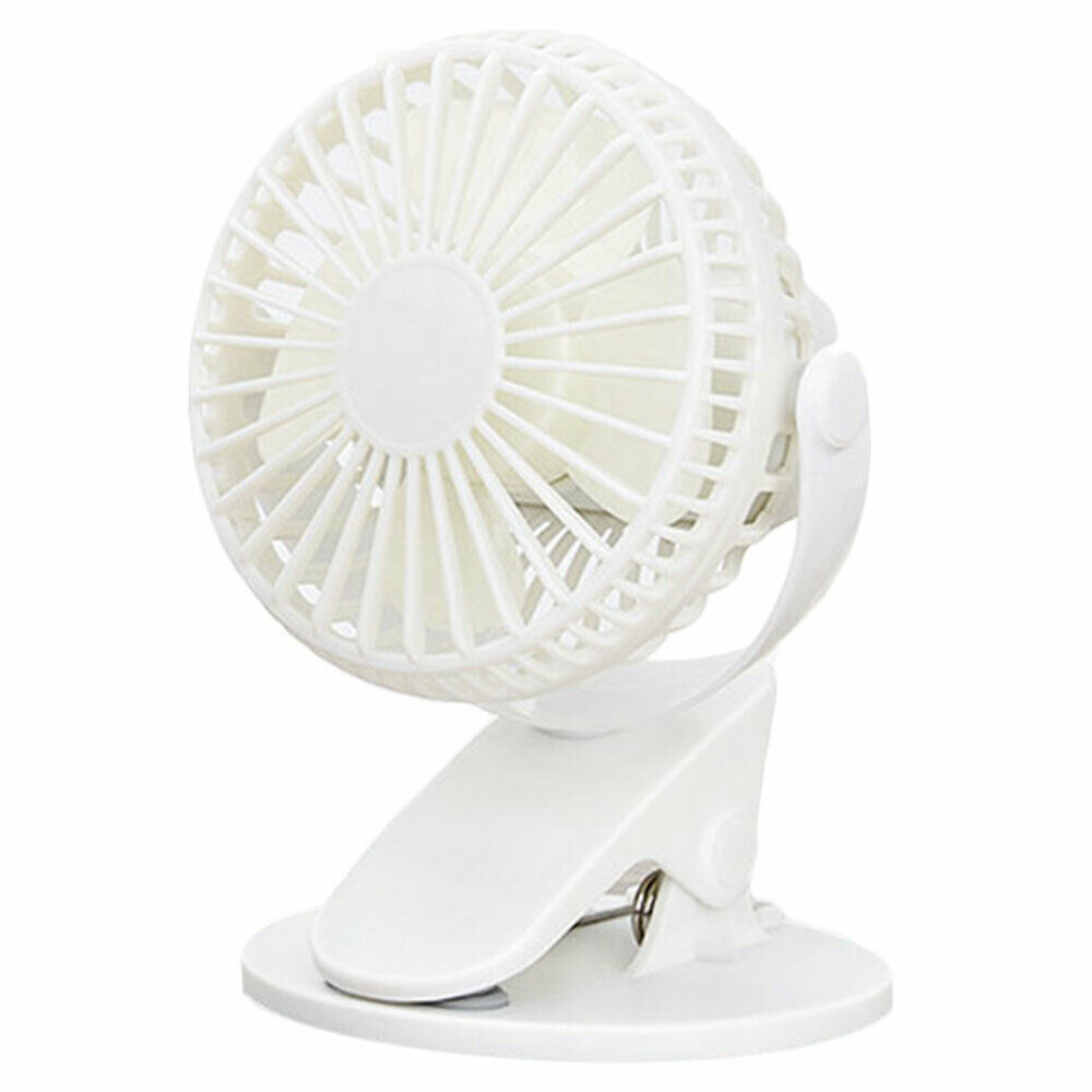 360/°New Clip Fan Portable Rechargeable USB Clip On Mini Desk Fan For Students Pram Cot Car Camping