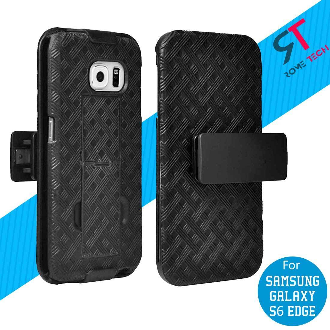Rome Tech Shell Holster Black Combo Case with Kickstand Samsung Galaxy S6 edge