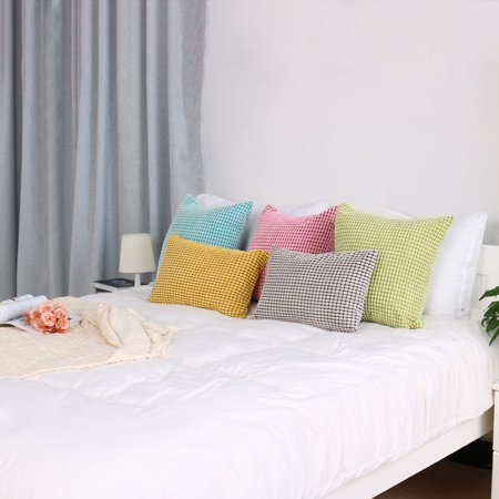 "Sofa Cushion Cover Striped Corduroy Throw Toss Pillow Case Shell 20"" Grey - image 3 de 7"