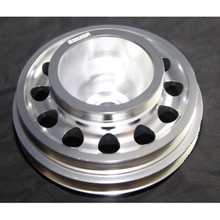 Aluminum Performance SILVER Crank Pulley for 92-95 Civic SOHC -