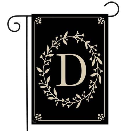 Garden Flag Letter - Briarwood Lane Classic Monogram Letter D Garden Flag Everyday 12.5