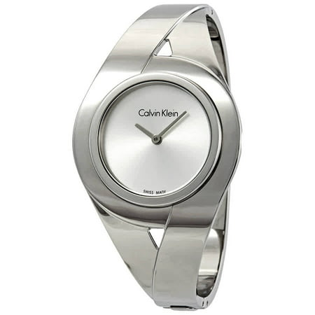 Calvin Klein Sensual Silver Dial Ladies Medium Watch (Calvin Klein Flatiron 3-0 21 Upright Suitcase)