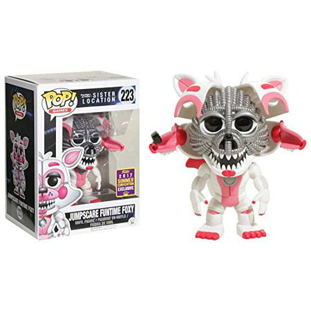 Pop  Games  Fnaf Sister Location  Jumpscare Funtime Foxy Collectible Figure   Summer Convention Exclusive  Officially Licensed  By Funko