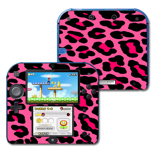 Mightyskins Protective Vinyl Skin Decal Cover for Nintendo 2DS wrap sticker skins Pink Leopard