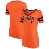 8982f11e8db Product Image Women s New Era Orange Baltimore Orioles Jersey V-Neck T-Shirt