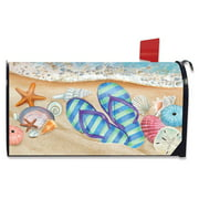 Day In The Sun Summer Magnetic Mailbox Cover Flip Flops Nautical