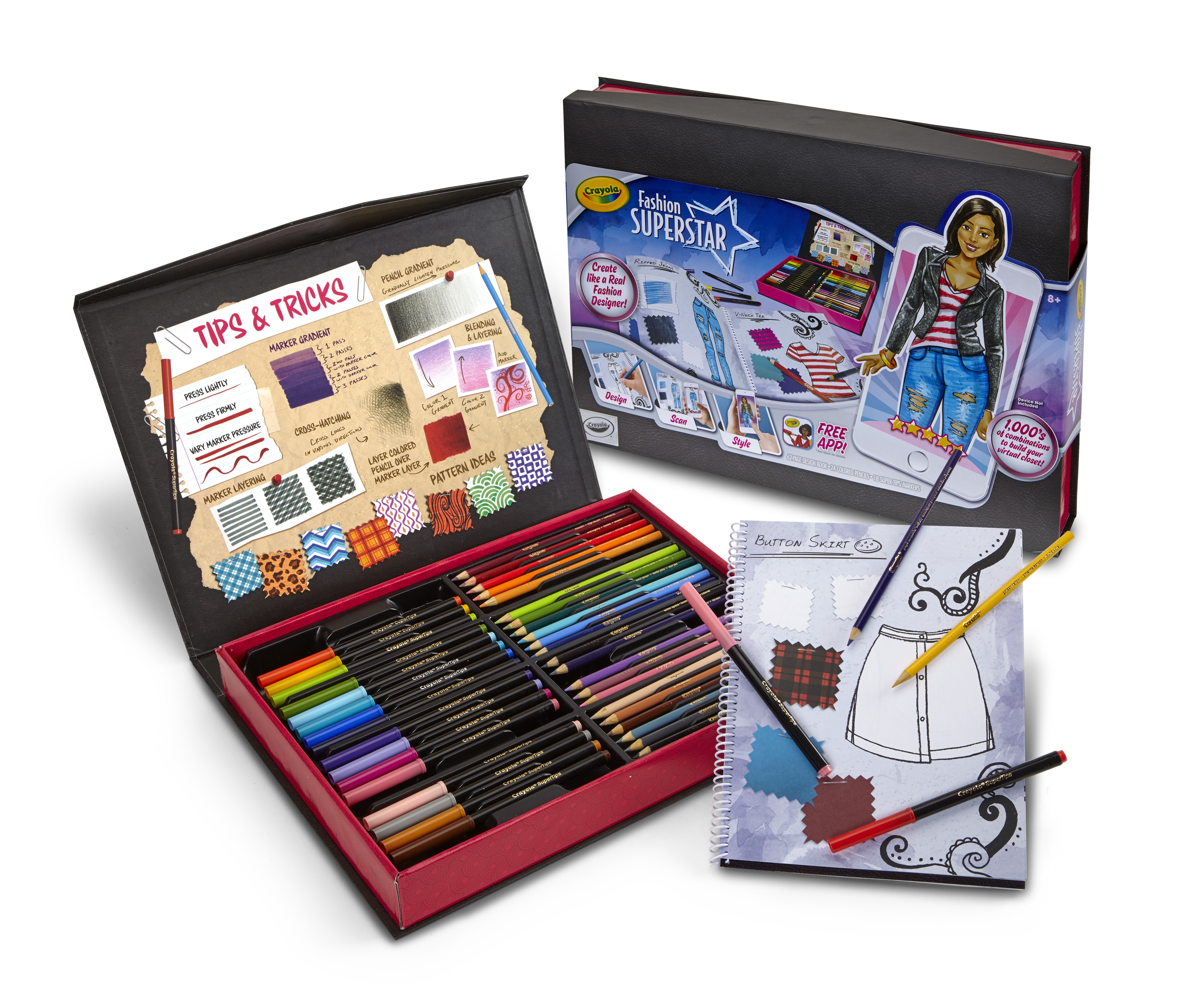 Crayola Fashion Superstar, Coloring Book and Free App, Gift by Crayola