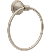 Better Homes and Gardens Safford Towel Ring, Wall Mounted Bathroom Towel Holder, Satin Nickel