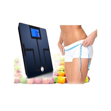 AGPTEK Digital Bluetooth Body Fat Scale, Smart Body Composition Analyzer w/ 4.3 Inch LCD display, Free Android + iOS App