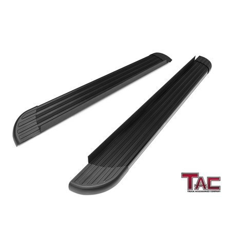 TAC Running Boards for 2011-2019 Jeep Grand Cherokee(Exclude: Limited X, High Altitude,  SRT and Tracklhawk) Value Aluminum SUV Black Side Steps Nerf