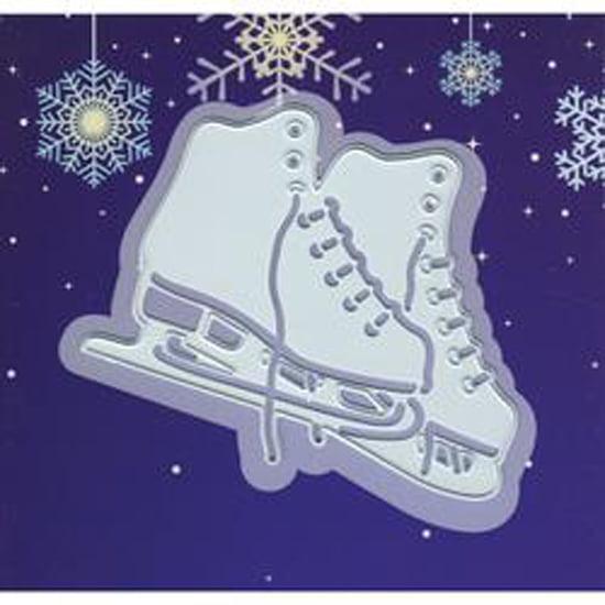 """Ice Skating; 2.875""""X2.5"""" - Joy! Crafts Cut & Emboss Die"""