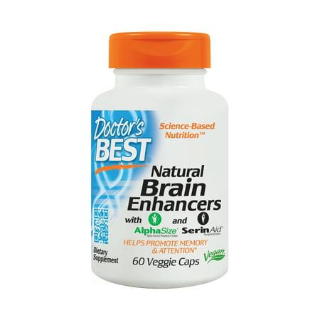 Doctor's Best Natural Brain Enhancers, Non-GMO, Vegan, Gluten Free, 60 Veggie