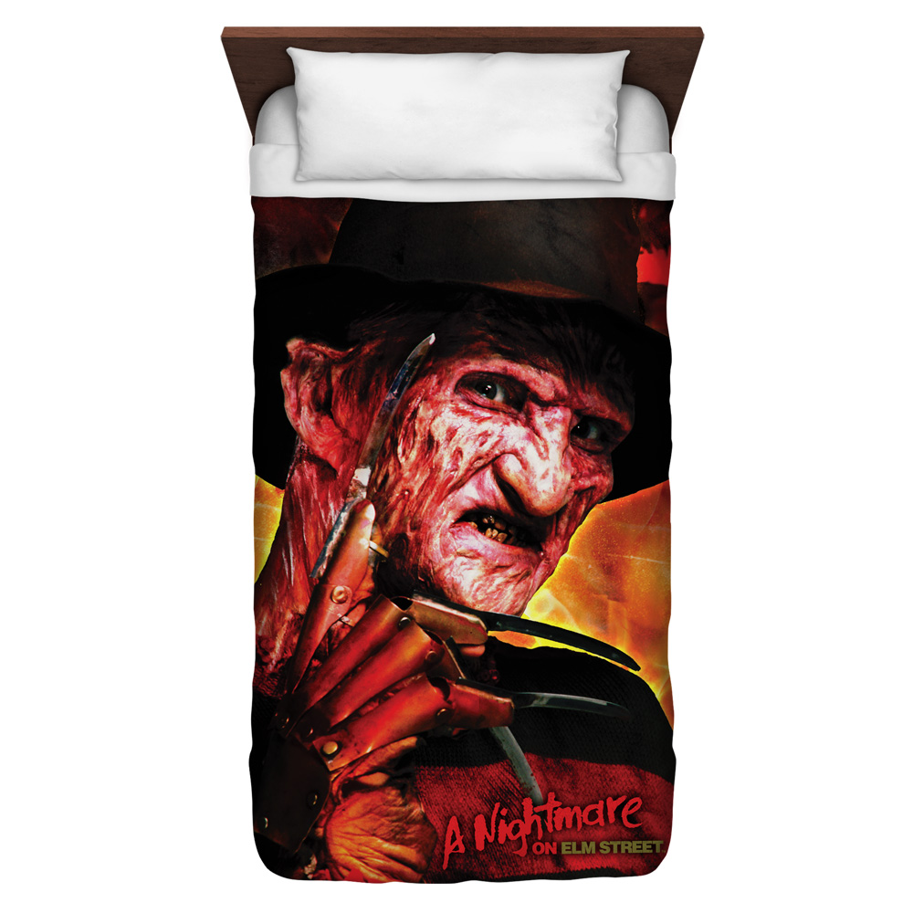 Nightmare On Elm Street Freddy'S Boiler Room Twin Duvet Cover White 68X88