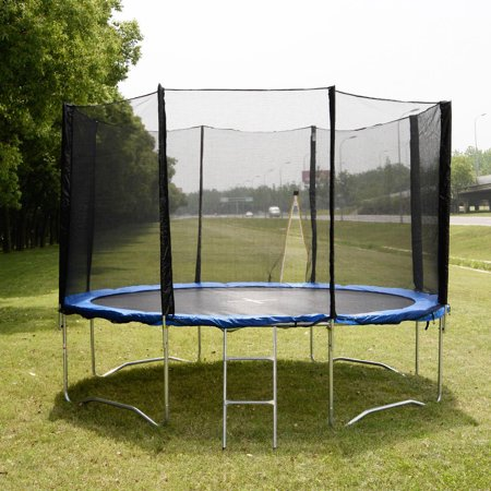 14 Ft Trampoline Combo Bounce Enclosure Jump Safety Net Spring Pad Goplus Ladder