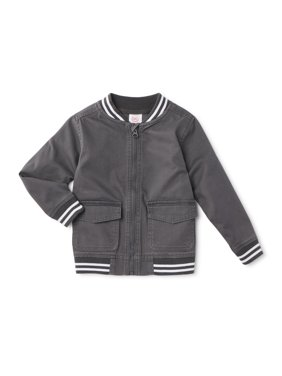 Wonder Nation Toddler Boys Lightweight Twill Varsity Jacket (Sizes 2T-5T)