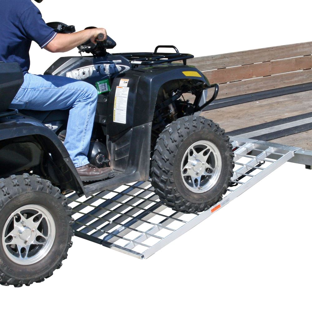 Black Widow Aluminum Tri-Fold Trailer ATV Ramp