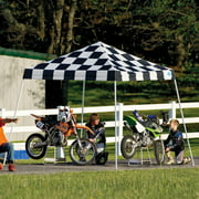 10' x 10' Sport Pop-up Canopy Slant Leg Checkered Flag Cover