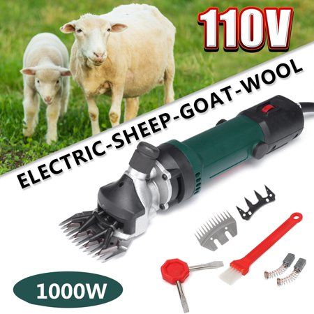 Electric Sheep Shears 110V Goat Animal Shaver Shearing Grooming Farm Machine Supplies Livestock Clipper Kit Box 6 Speed (Best Clippers For Shearing Angora Goats)