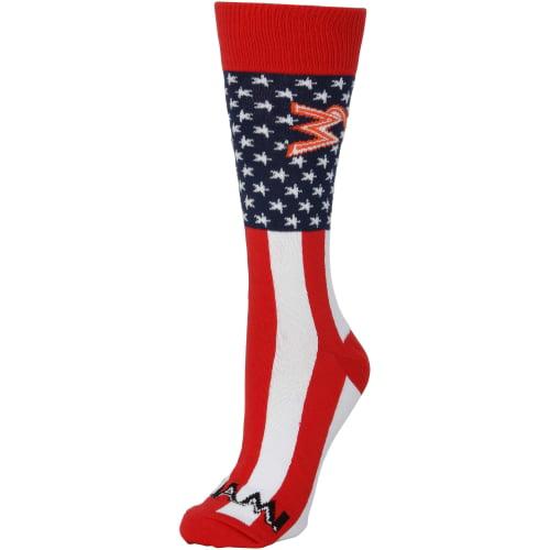Miami Marlins Women's Flag Top Socks - No Size
