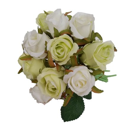 12 Heads Artificial Silk Fake Rose Flowers Floral Wedding Bouquet Home Decor