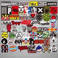AkoaDa 100 PCS Rock Sticker Music Retro Band Graffiti  Stickers To DIY Guitar Motorcycle Laptop Luggage Skateboard Car Snowboard