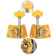 walmeck Double Bass Single Tuning Pegs Tuner Machine Heads 2 Left 2 Right for 4/4 3/4 Double Bass
