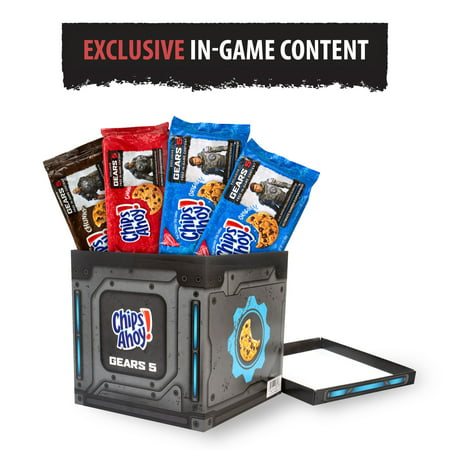 CHIPS AHOY! Chocolate Chip Cookie Variety Pack, Gears 5 Edition, Free In-Game Content, 4 Packs (2 Original, 1 Chewy, 1 Chunky)